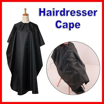 Black Hair Cutting Cape Pro Salon Barber Cut Hairdressing Spa Gown Apron Styling
