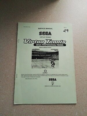 SEGA Virtua Tennis Original Service Manual