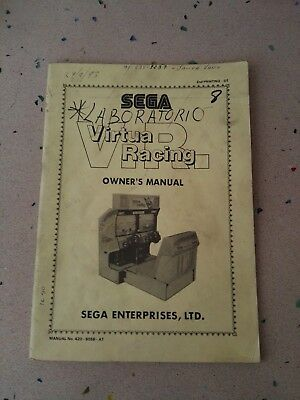 SEGA Virtua Racing Original Owner´s Manual