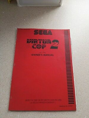 SEGA Virtua Cop 2 Original Owner´s  Manual