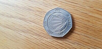 1998 50p. NHS. Fifty Pence. Circulated 💉💊