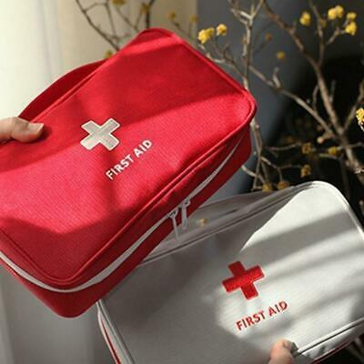 Red Emergency First Aid Kit Rescue Bag Outdoor Hiking Camping Survival Supply