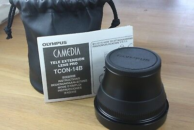 Olympus Camedia TCON-14B Tele Extension Pro 62mm to 82mm Lens Adapter Japan