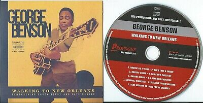 Promo Cd George Benson Walking To New Orleans Chuck Berry Fats Domino Provogue