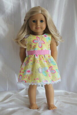 Dress fits 18inch American Girl Doll Clothes Butterfly Summer Floral
