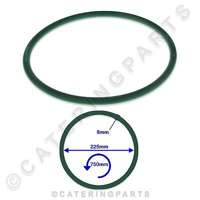 750mm LONG GREEN RUBBER DRIVE BELT PIZZA DOUGH ROLLER FORMER STRETCHER MACHINE