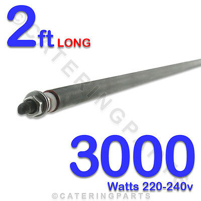 "HE2430 24"" / 2ft LONG 3000 watt 3kw DRY / WET ROD HEATING ELEMENT 220-240 HEATER"
