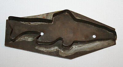 Early Tin Star Cookie Cutter Fish c1930
