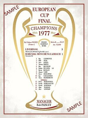 Liverpool Football Programmes 1977 European Cup Final Collectors Sign Anfield