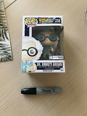 Funko POP Movies Back To The Future Dr. Emmett Brown LootCrate Exclusive New