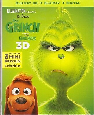 DR.SEUSS THE GRINCH 3D BLU-RAY & BLURAY & DIGITAL SET with Benedict Cumberbatch