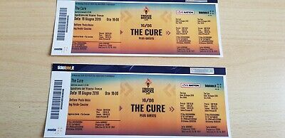 2 Biglietti Concerto The Cure-Firenze Rocks 16/06/2019