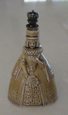 Antique Vintage Figural Crown Top Lady Queen Perfume Bottle