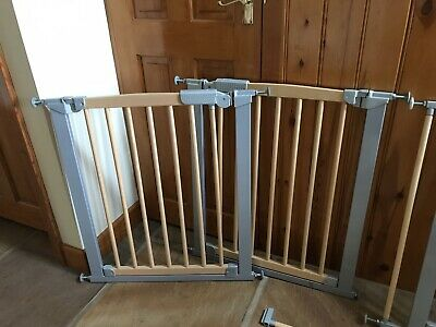 Safety Gate  3 X Mothercare Pressure fix, wide wood & metal With 2 Extension Kit