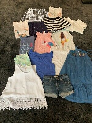 Girls Summer Clothes Bundle Age 7-8 Years Zara, Roxy, Mini Boden