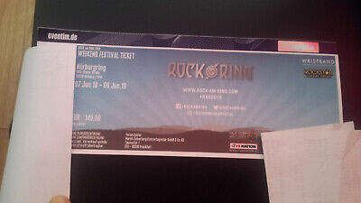 Weekend Festival Ticket Rock Am Ring 7.-9.6. 2019 o. general camping