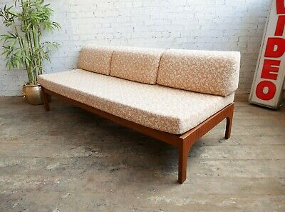 Vintage 50s 60s Retro Mid Century Modern Danish Style Studio Couch Sofa Day bed