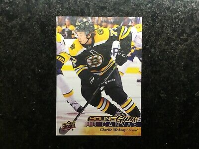 2017-18 Charlie McAvoy Upper Deck Young Guns Canvas Rookie C105