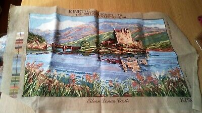 Completed Tapestry Canvas Kinetic The British Collection Eilean Donan Castle