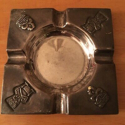 Vintage Ashtray Mayan Aztec Sterling Silver 900 Bogota