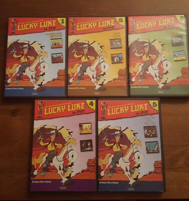 "Lot  5 DVD ""LUCKY LUKE"""