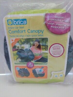 Brica Baby Comfort Canopy Infant Car Seat Cover: Sun Shade & Mosquito Shield NIP