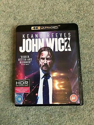 John Wick Chapter 2 4K UHD Disc & Blu-Ray Keanu Reeves Action Movie