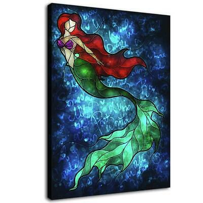 "12""x16""Abstract Mermaid HD Canvas print Painting Home Poster eoom Decor Wall art"