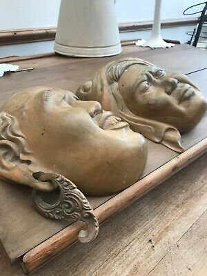 Vintage Wooden Chinese Leader Mao Zedong And His Wife Heads Communist Leader