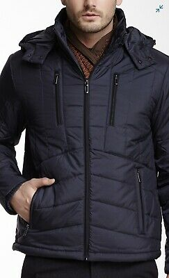 Tumi Tech Navy Lightweight Quilted Jacket Size Large - RRP $115