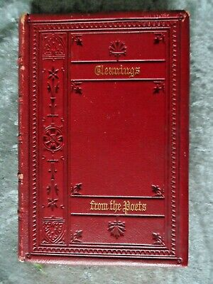 Fine Binding: Red Leather & Gilt Edged 19th Century Poetry Anthology.