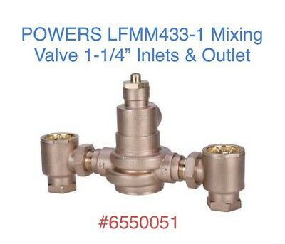 """POWERS HydroGuard Watts LFMM433-1 Mixing Tempering Valve 1-1/4"""" Inlets Outlet"""