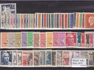 France 1945 -  Lot De 62 Timbres  Neufs **  Ttb .