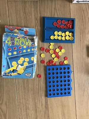 Four In A Row Connect 4 Mini Travel Game Toy