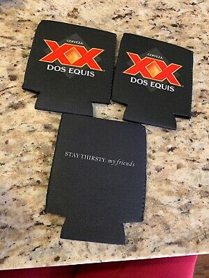 Dos Equis Koozie - NEW Lot Of 3 XX Beer Can Bottle