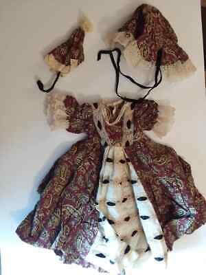 Vintage Antique German or French Doll Dress