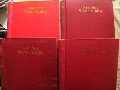 World A-Z collection in 4 Red Albums. Huge Amount, 500 + Pages. Ref-084