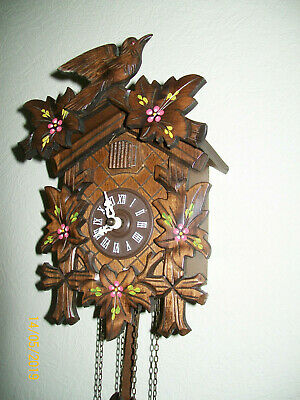 Vintage Medium Size Black Forrest style Regula Movement Cuckoo Clock GWO