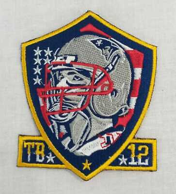 "New England Patriots Tom Brady Super Bowl Champions Iron On Patch 3.5"" NFL"