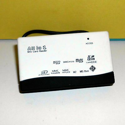 USB 2.0 SDHC SD micro MMC CF XD MSPro MDD All in 1 Memory Card Reader 45cm Cable