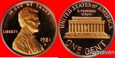 1981 S Lincoln Cent Type 1 Deep Cameo Gem Proof