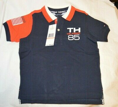 Baby Toddler boy clothes 2T Tommy Hilfiger Logo Navy Blue polo shirt $39 NEW NWT