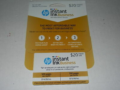 no return new never used HP Instant Ink business prepaid card inkject printer