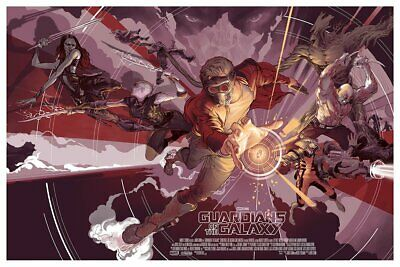 Mondo Guardians of the Galaxy Variant Art Print by Rich Kelly NEW