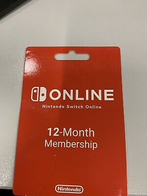 Nintendo Switch Online 12 Month Membership Subscription Pre-Paid Card