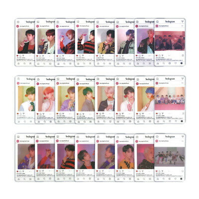 Kpop BTS Map of The Soul: Persona PVC Transparent Photocard RM Suga Photo Cards