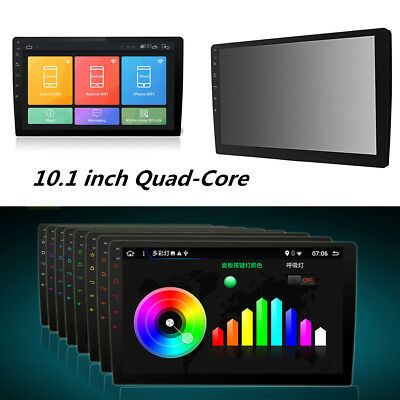 10.1inch Android 8.1 Double 2Din Quad-Core Car Stereo Radio GPS WiFi Mirror Link