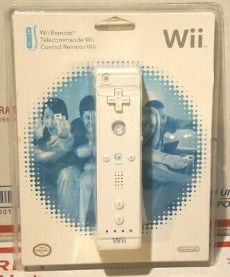 Official Nintendo Wii Remote Controller White Sealed in Package Genuine OEM