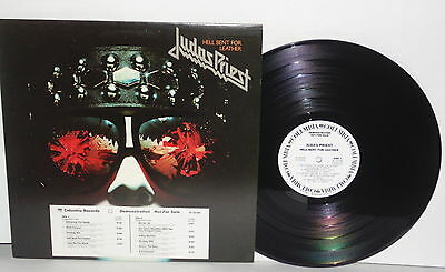 JUDAS PRIEST Hell Bent For Leather LP 1978 White Label Promo Pressing WLP Vinyl