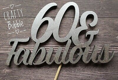 """/""""/& FIT/"""" many colours WOODEN Birthday Cake topper HAND MADE 50//60//70 ANY AGE"""